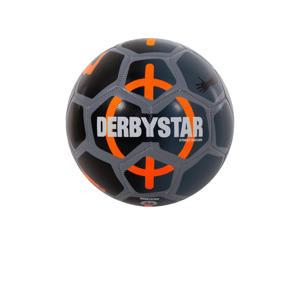 voetbal zwart/grijs/oranje maat 5