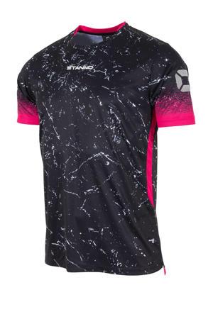 Senior  sport T-shirt zwart/roze