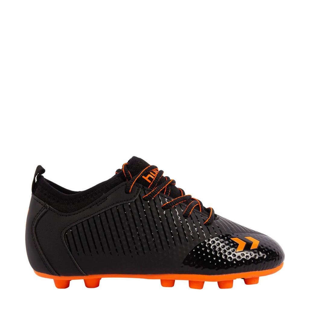 hummel Zoom FG Jr. voetbalschoenen zwart/oranje, Zwart/oranje