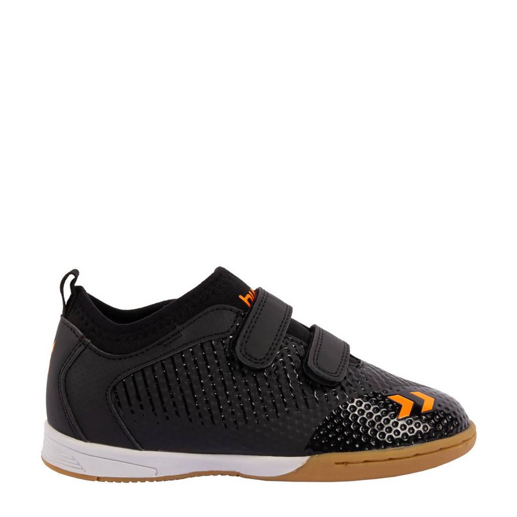 hummel Zoom JR IN  sportschoenen zwart/oranje, Zwart/oranje