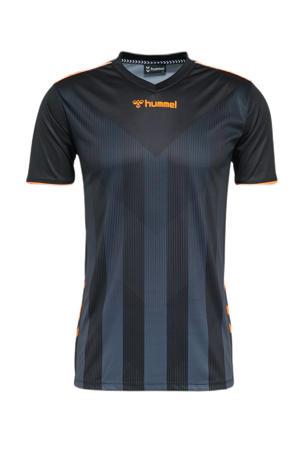 Senior  sport T-shirt Ground Pro Limited zwart/oranje