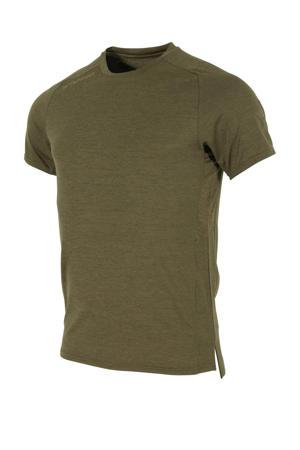 Senior  sport T-shirt donkergroen