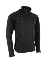 hummel Junior  sportshirt Ground Pro Quarter zwart, Zwart