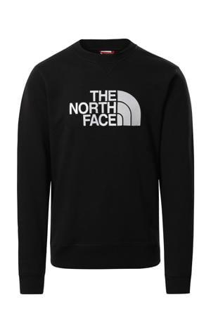 sweater Drew Peak met logo zwart/wit
