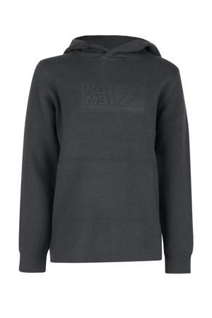 sweater Stanley met tekst antraciet