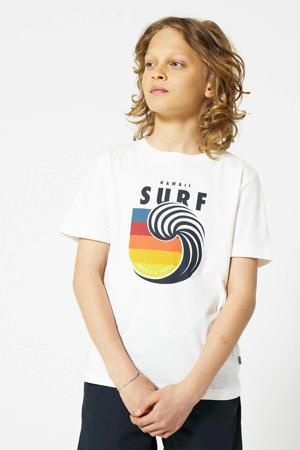 T-shirt Eamon Surf met printopdruk off white