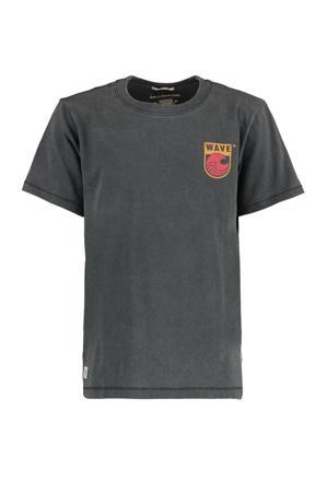 T-shirt Eamon Back met printopdruk zwart
