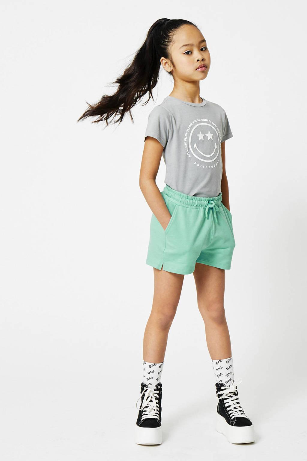 CoolCat Junior T-shirt Evelin coolcat x smiley world grijs, Grijs