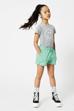 T-shirt Evelin coolcat x smiley world grijs