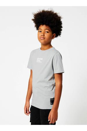 T-shirt Emilio coolcat x smiley world lichtgrijs/geel/wit