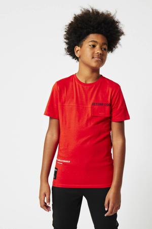 T-shirt Edyn coolcat x smiley world rood