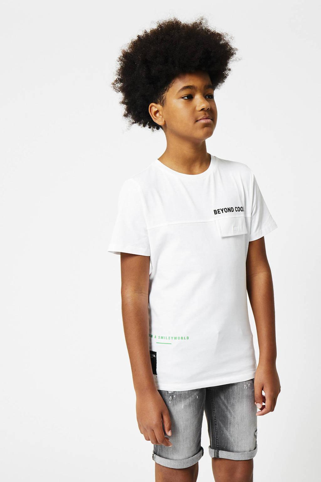CoolCat Junior T-shirt Edyn coolcat x smiley world wit, Wit