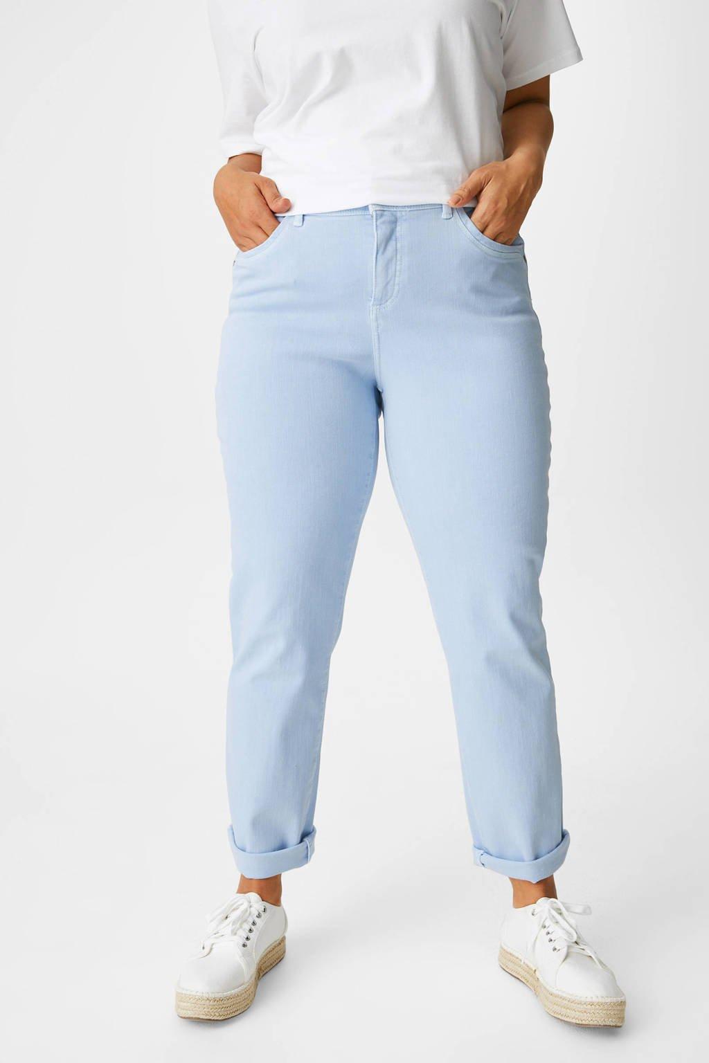 C&A XL Yessica slim fit jeans lichtblauw, Lichtblauw