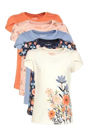 T-shirt - set van 5 multi