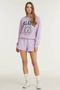 ONLY sweater met printopdruk lila, Lila