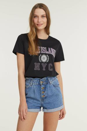 T-shirt ONLLEISURE met printopdruk donkergrijs