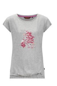 Life-Line outdoor T-shirt Nena grijs melange, Grijs melange