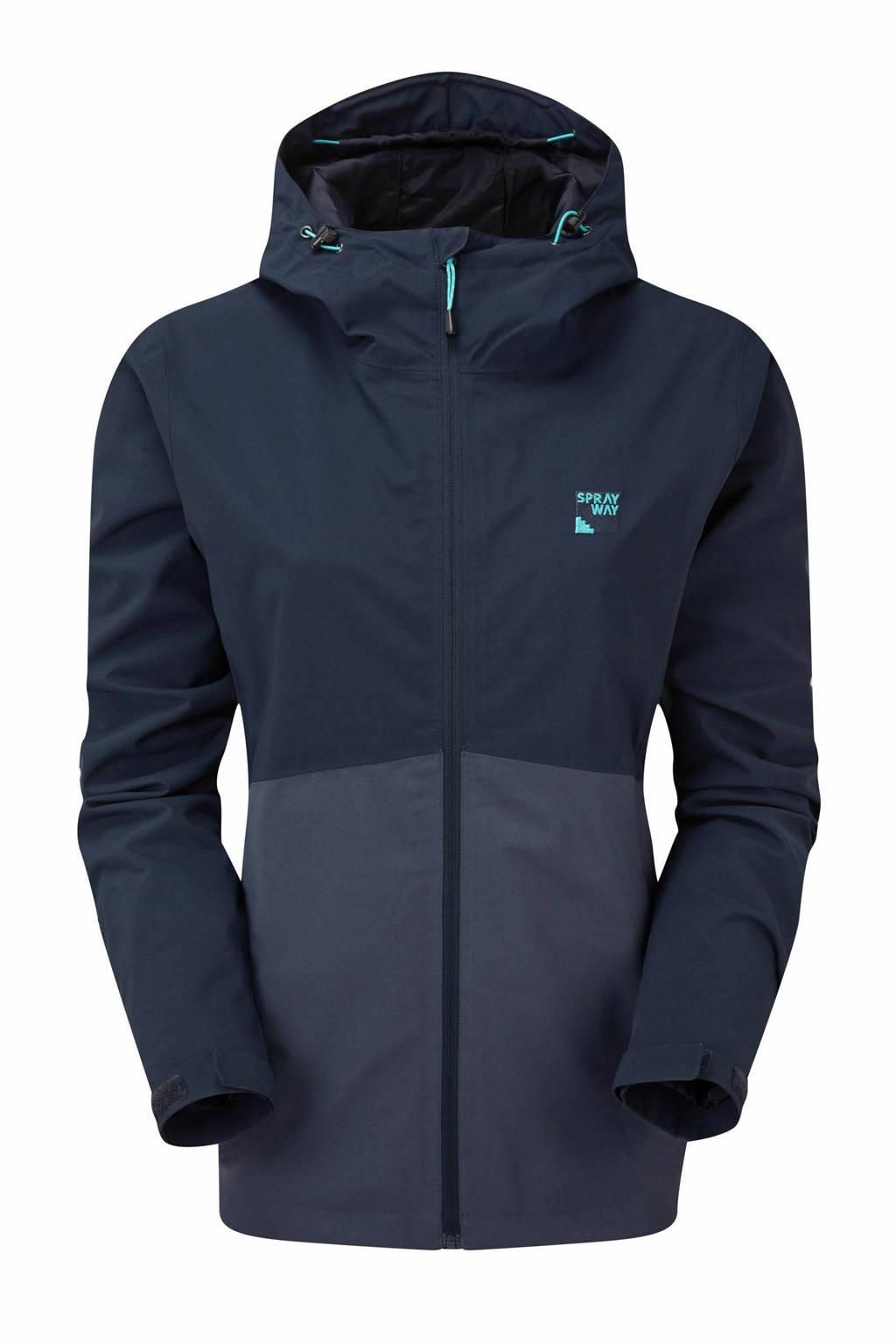 Sprayway outdoor jas Kyrre donkerblauw/blauw, Donkerblauw/blauw