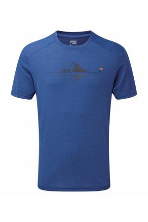 outdoor T-shirt blauw