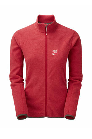 outdoor fleece vest Berit rood melange