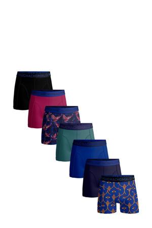 boxershort - set van 7 blauw/rood/groen/zwart