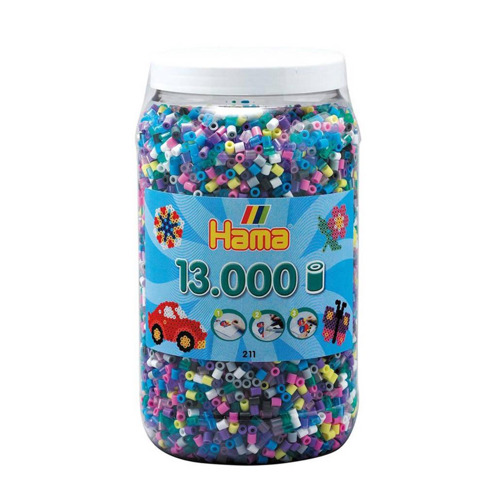 Hama strijkkralen in pot kleurenmix, 13.000 stuks