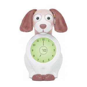 Davy de hond slaaptrainer met uurwerk roze