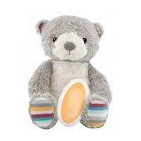 Zazu Bruno de beer babyslaapknuffel met opname functie, Grijs