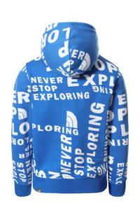 The North Face hoodie Drew Peak met all over print blauw/wit/zwart, Blauw/wit/zwart