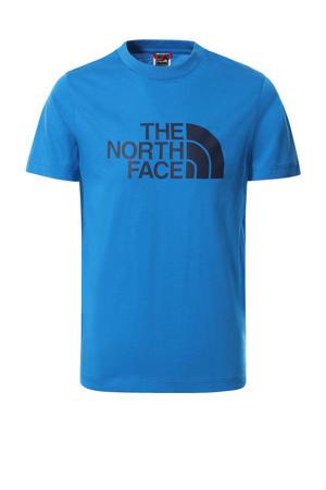 unisex T-shirt Easy blauw/zwart