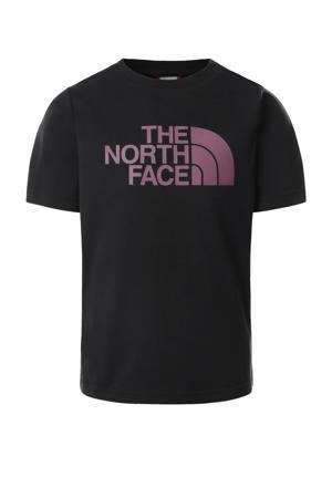 T-shirt zwart/paars
