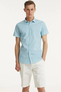 No Excess regular fit overhemd met all over print aqua, Aqua