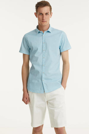 regular fit overhemd met all over print aqua