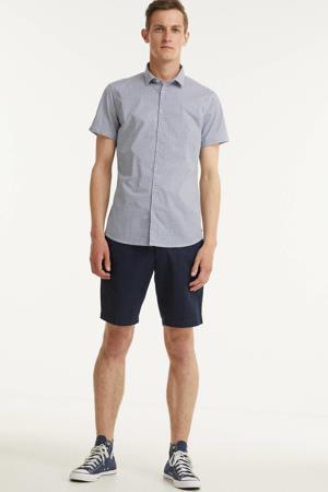 regular fit overhemd met all over print indigo blue