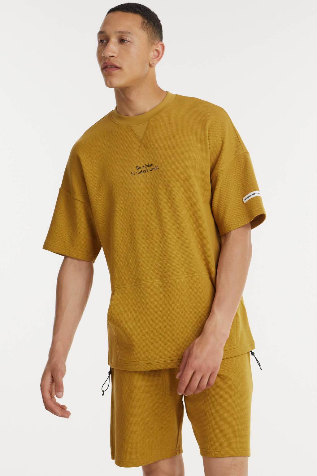 Redefined Rebel T-shirt RRLuca met logo bone brown, Bone Brown