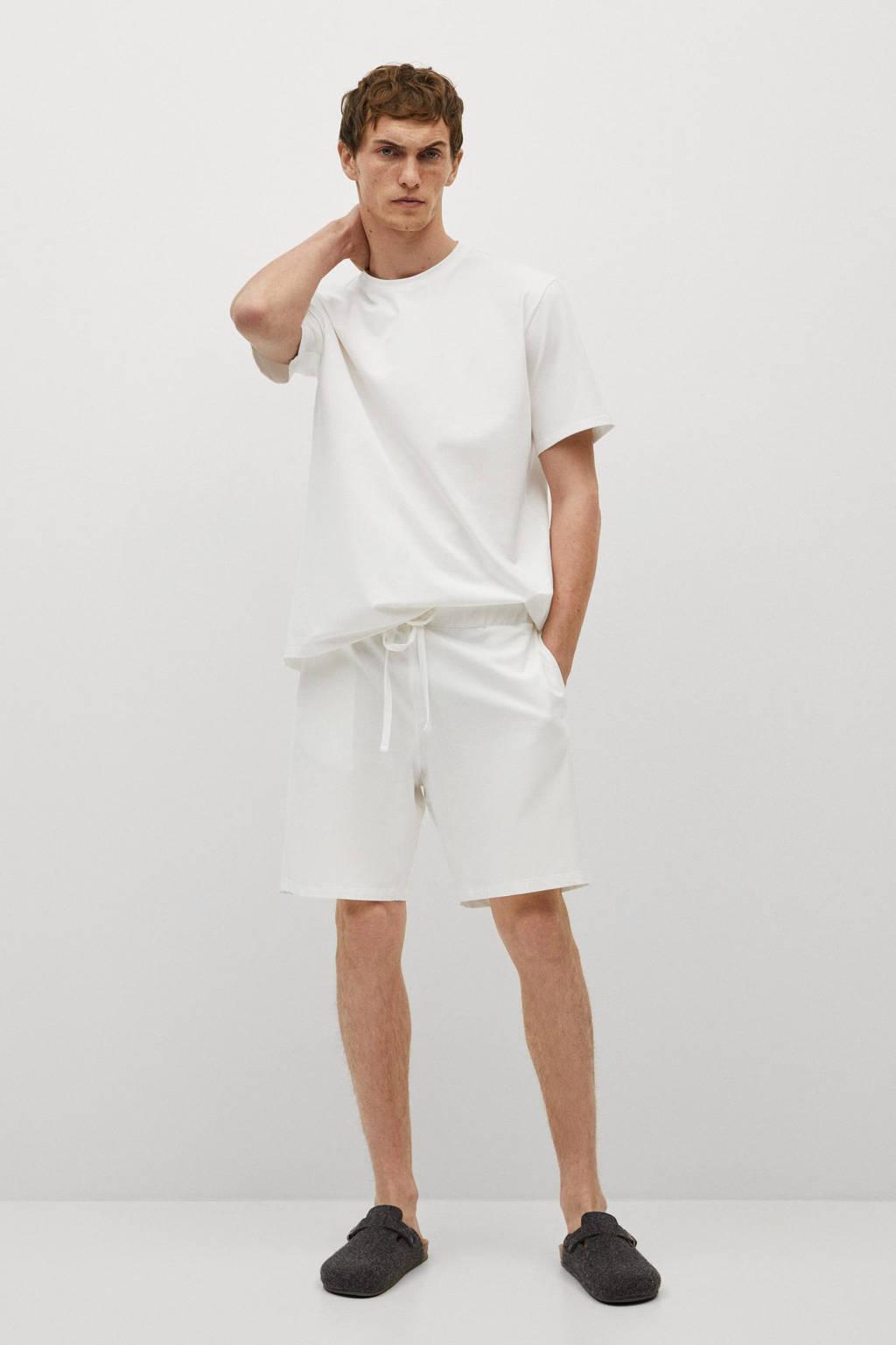 Mango Man pyjamatop wit, Wit