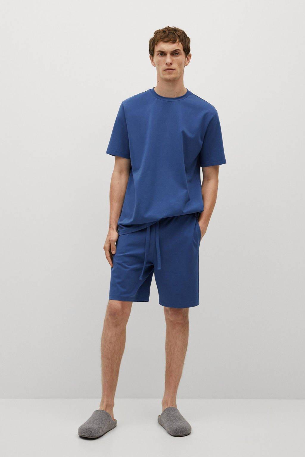 Mango Man pyjamatop blauw, Blauw