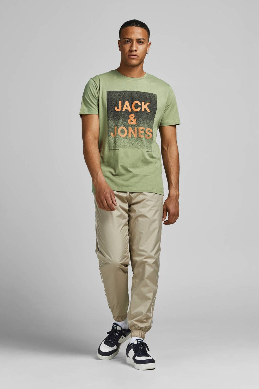 JACK & JONES CORE T-shirt York met logo groen, Groen
