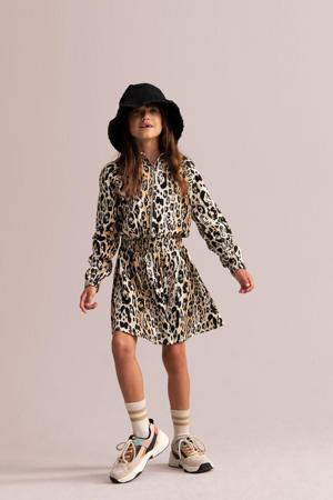 jurk Luukie met panterprint bruin/zwart/wit