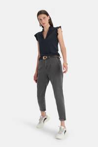Shoeby Eksept high waist tapered fit jeans Emma grey, Grijs