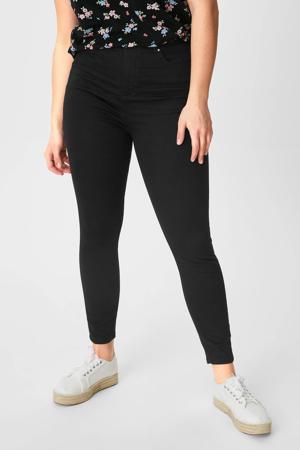 high waist super skinny jeans zwart