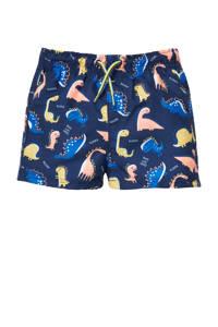 C&A Baby Club zwemshort met all over print donkerblauw/geel, Donkerblauw/geel