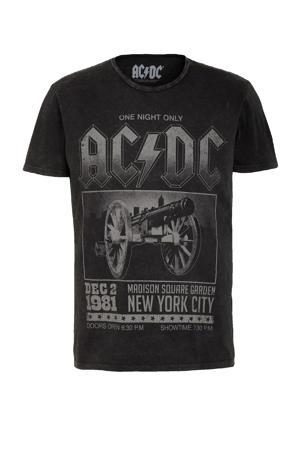 T-shirt AC/DC  met printopdruk antraciet