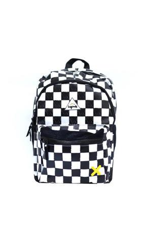 rugzak Checkerboard zwart/wit