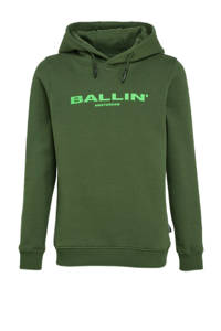 Ballin unisex hoodie met logo groen, Groen