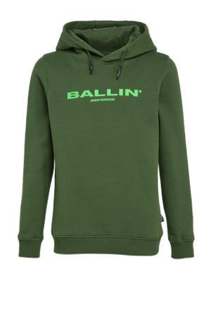 unisex hoodie met logo groen