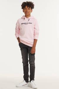 Ballin unisex hoodie met logo roze, Roze