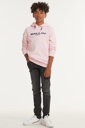 unisex hoodie met logo roze