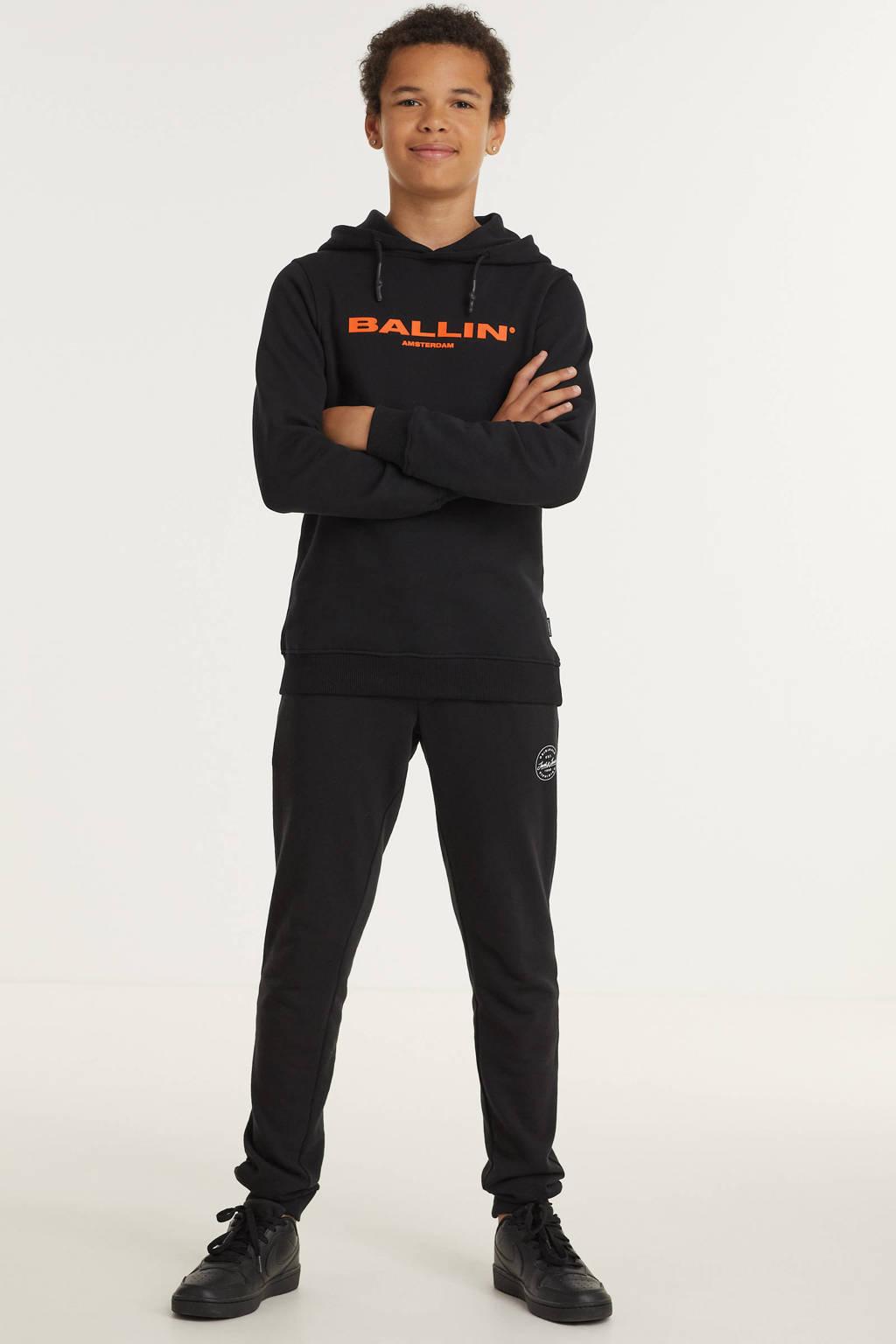 Ballin unisex hoodie met logo zwart, Zwart