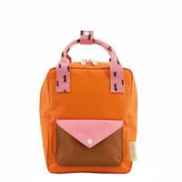 Sticky Lemon  rugzak Sprinkles Envelope Small oranje/roze, oranje/roze/bruin